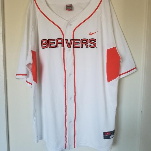 Men's 2XL Beavers Baseball Style Jersey   …